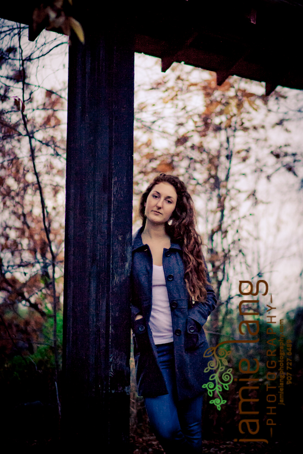 red headed senior session studio and outside session anchorage alaska