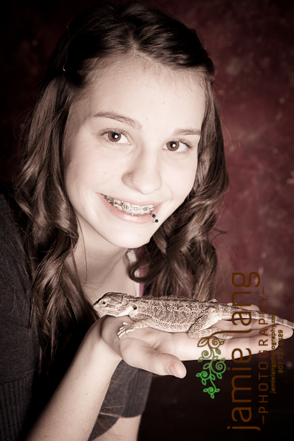 a girl and her bearded dragon
