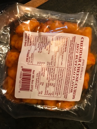 VERY spicy cheese curds